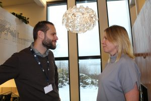Andreas Persson fra Tryg Forsikring og Cathrine Fredhøi fra Helse Vest