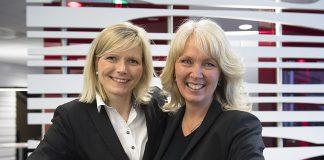 Ingvild Jensen Howlett (tv) og Torunn T. Johannessen hjelper deg med finansiering, sparing og forsikring.