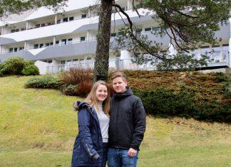 Eirin og Martin satte seg konkrete mål for sparingen. Nå er det unge paret lykkelige eiere av sin første bolig.