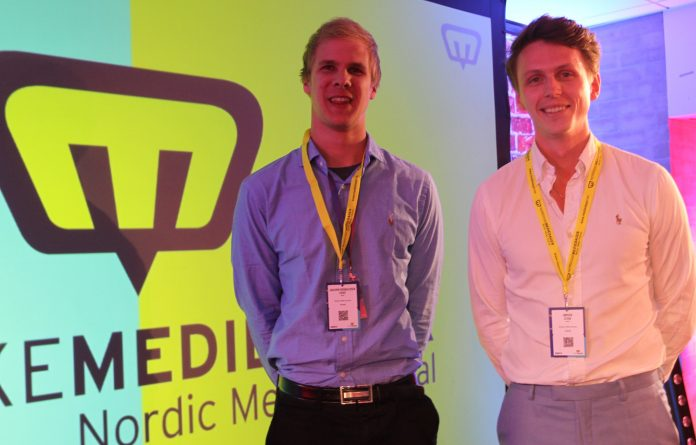 Gründer Joachim Tvedt Rognaldsen og Jørgen Stien presenterte nyskapende teknologi fra Bergen med Nurofy sin presentasjon under NMD Startup.