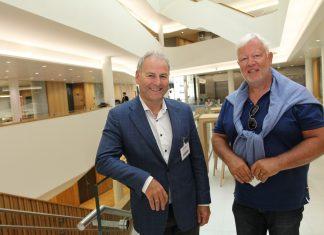 Styreleder i Connect BAN Bergen, Dag Skansen (t v), og forretningsutvikler Ståle Stormark er på utkikk etter gode gründerbedrifter