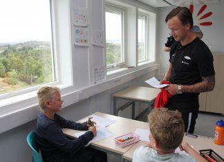Nicolai på ni år vant et møte med sin Brann-helt i Sparebanken Vest sin Facebook-konkurranse. Han er ikke i tvil om at Fredrik Haugen er den beste på banen.