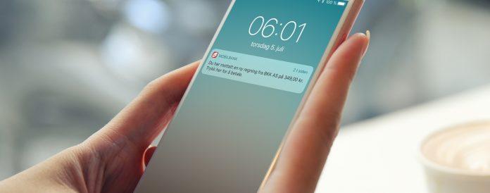 Nå kan du bli varslet straks en faktura kommer og betale super enkelt (Foto: Sparebanken Vest)