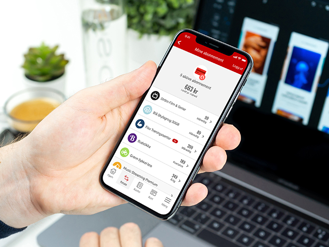 Mine abonnement i mobilbanken